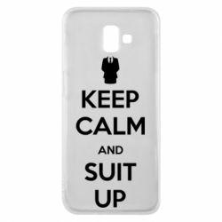 Чехол для Samsung J6 Plus 2018 Keep Calm and suit up!