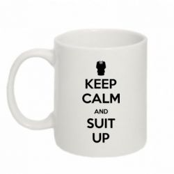 Кружка 320ml Keep Calm and suit up!