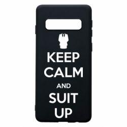 Чехол для Samsung S10 Keep Calm and suit up!