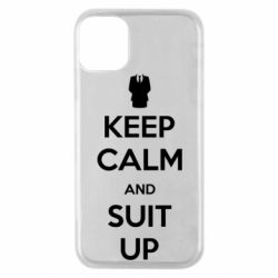 Чехол для iPhone 11 Pro Keep Calm and suit up!