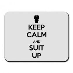 Коврик для мыши Keep Calm and suit up!