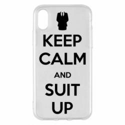 Чехол для iPhone X/Xs Keep Calm and suit up!