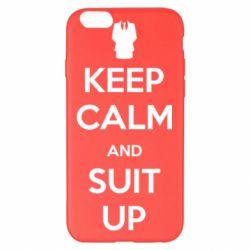 Чехол для iPhone 6 Plus/6S Plus Keep Calm and suit up!