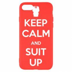 Чехол для iPhone 7 Keep Calm and suit up!