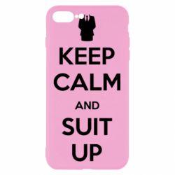 Чехол для iPhone 7 Plus Keep Calm and suit up!