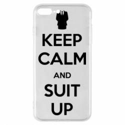 Чехол для iPhone 8 Plus Keep Calm and suit up!