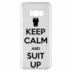 Чехол для Samsung S8+ Keep Calm and suit up!