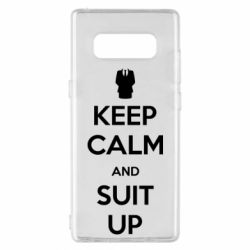 Чехол для Samsung Note 8 Keep Calm and suit up!