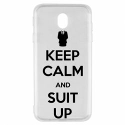 Чехол для Samsung J7 2017 Keep Calm and suit up!