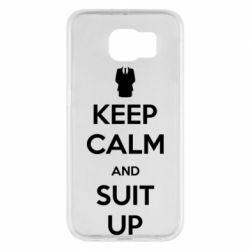 Чехол для Samsung S6 Keep Calm and suit up!