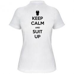 Женская футболка поло Keep Calm and suit up!