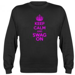 Реглан (свитшот) KEEP CALM and SWAG ON - FatLine