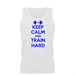 Мужская майка KEEP CALM and TRAIN HARD - FatLine