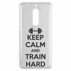 Чехол для Nokia 5 KEEP CALM and TRAIN HARD - FatLine