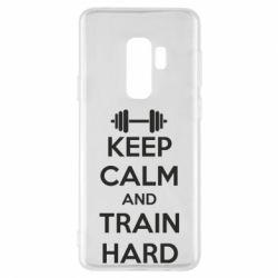 Чехол для Samsung S9+ KEEP CALM and TRAIN HARD - FatLine