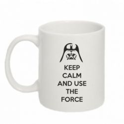 Кружка 320ml Keep Calm and use the Force