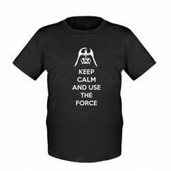 Детская футболка Keep Calm and use the Force - FatLine