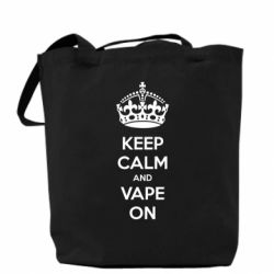 Сумка KEEP CALM and VAPE ON