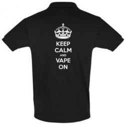 Футболка Поло KEEP CALM and VAPE ON