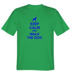 Мужская футболка KEEP CALM and WALK THE DOG - FatLine