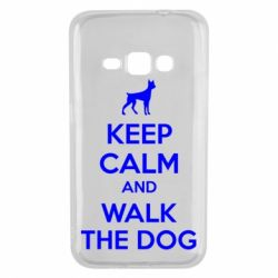 Чохол для Samsung J1 2016 KEEP CALM and WALK THE DOG
