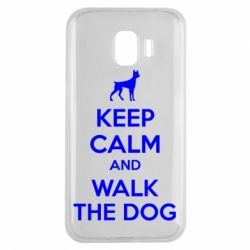 Чохол для Samsung J2 2018 KEEP CALM and WALK THE DOG