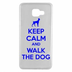 Чохол для Samsung A7 2016 KEEP CALM and WALK THE DOG