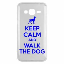 Чохол для Samsung J3 2016 KEEP CALM and WALK THE DOG
