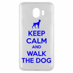 Чохол для Samsung J4 KEEP CALM and WALK THE DOG