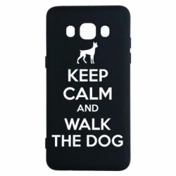 Чохол для Samsung J5 2016 KEEP CALM and WALK THE DOG