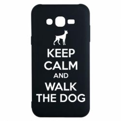 Чохол для Samsung J7 2015 KEEP CALM and WALK THE DOG