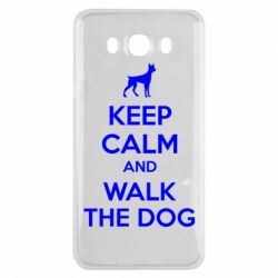 Чохол для Samsung J7 2016 KEEP CALM and WALK THE DOG