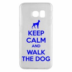 Чохол для Samsung S6 EDGE KEEP CALM and WALK THE DOG