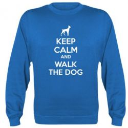 Реглан (свитшот) KEEP CALM and WALK THE DOG - FatLine