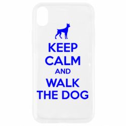 Чохол для iPhone XR KEEP CALM and WALK THE DOG
