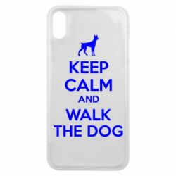 Чохол для iPhone Xs Max KEEP CALM and WALK THE DOG