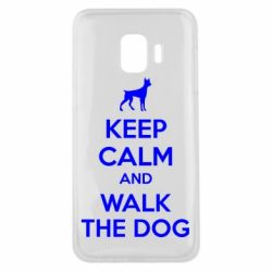 Чохол для Samsung J2 Core KEEP CALM and WALK THE DOG