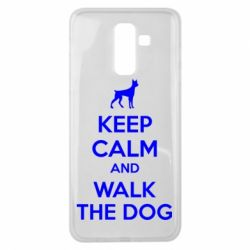 Чохол для Samsung J8 2018 KEEP CALM and WALK THE DOG