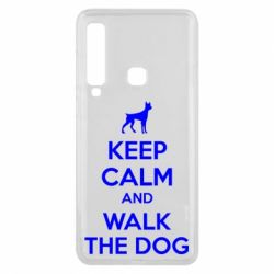 Чохол для Samsung A9 2018 KEEP CALM and WALK THE DOG