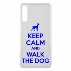 Чохол для Samsung A7 2018 KEEP CALM and WALK THE DOG
