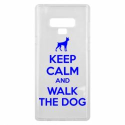 Чохол для Samsung Note 9 KEEP CALM and WALK THE DOG
