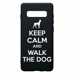 Чохол для Samsung S10+ KEEP CALM and WALK THE DOG