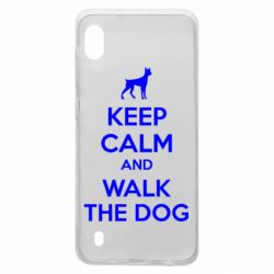 Чохол для Samsung A10 KEEP CALM and WALK THE DOG