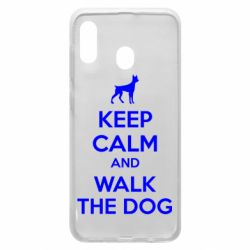 Чохол для Samsung A20 KEEP CALM and WALK THE DOG