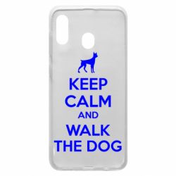 Чохол для Samsung A30 KEEP CALM and WALK THE DOG