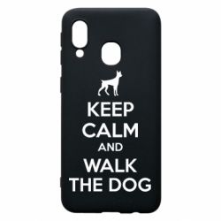 Чохол для Samsung A40 KEEP CALM and WALK THE DOG