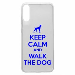 Чохол для Samsung A70 KEEP CALM and WALK THE DOG