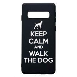 Чохол для Samsung S10 KEEP CALM and WALK THE DOG