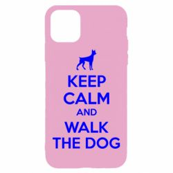 Чохол для iPhone 11 KEEP CALM and WALK THE DOG