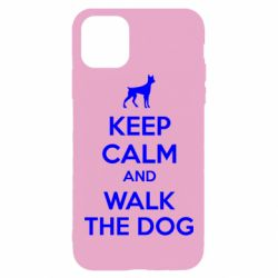 Чохол для iPhone 11 Pro Max KEEP CALM and WALK THE DOG